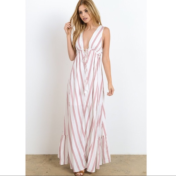 Bellanblue Dresses - 🆕MACIE striped maxi dress - ROSE
