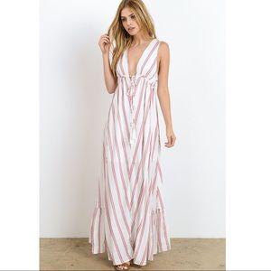 Bellanblue Dresses - 🆕MACIE striped maxi dress - ROSE
