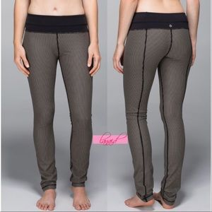 lululemon athletica Pants - Lululemon Skinny Groove Super Stripe Mojave Tan 6