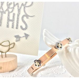 henri bendel Jewelry - Henri Bendel bangle in rose gold