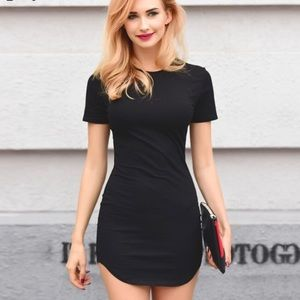 B-Long Boutique  Dresses & Skirts - black body con t-shirt dress