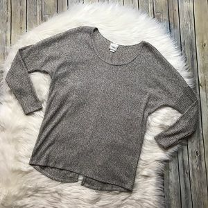 Daytrip Tan/Taupe Button Back Lightweight Sweater