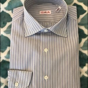 Isaia Other - New Isaia Dress Shirt 15.5 Italy hand made $525
