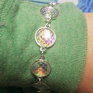New iridescent scales mermaid bracelet