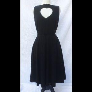 eshakti Dresses & Skirts - New Eshakti Black Heart Fit & Flare Dress 18W