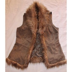 Style & Co Jackets & Blazers - Style & Co. Petite Vest with Faux Fur Lining