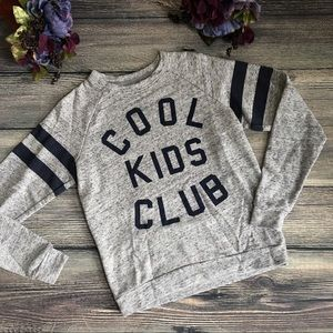 Mighty Fine Tops - Cool Kids Club Varsity Graphic Sweatshirt size S