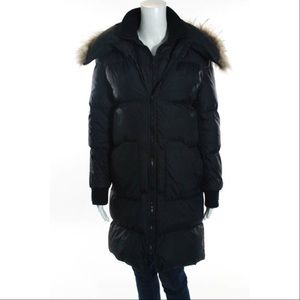 BCBG Jackets & Blazers - BCBG MAXAZRIA Down Jacket Black Long Fur Warm Coat
