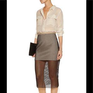 Mason Dresses & Skirts - Mason Black and White Overlay Midi Skirt