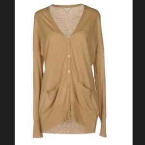 Joie camel colored cardigan with elbow patches