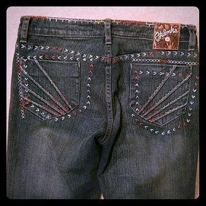 Vintage Denim - Embroidered jeans