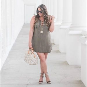 Olive Green Cotton Dress!