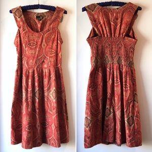 UO Urban Renewal boho printed fit and flare dress