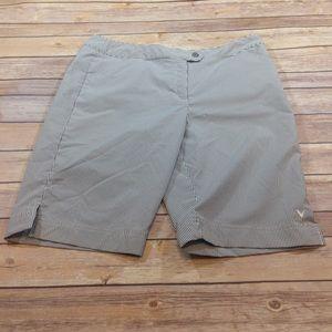 Callaway Pants - Callaway Striped Bermuda Length Golf Shorts Sz 10