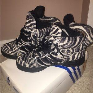 Jeremy Scott x Adidas Shoes - JEREMY SCOTT ZEBRA
