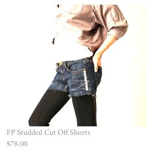Free People Studded Cut Off Shorts
