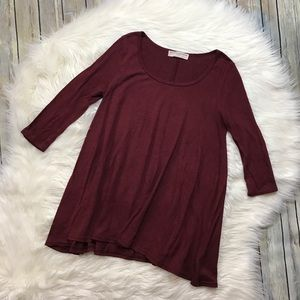 Project Social T Urban Outfitters Maroon Sweater