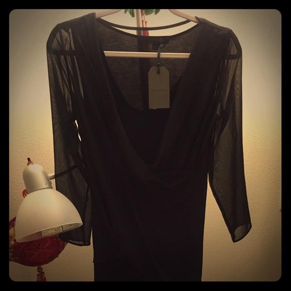 NWT! ALLSAINTS Lowe chiffon wrap dress 7c3c4a05a
