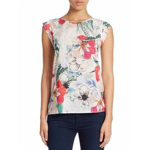 French connection tropical floral reef top