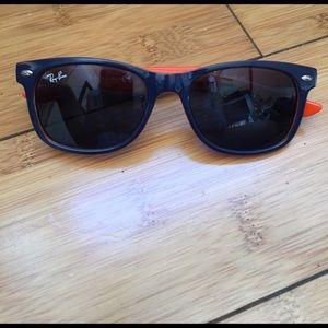 Ray-Ban Other - Ray Ban Kids Wayfarer Sunglasses Navy and Orange