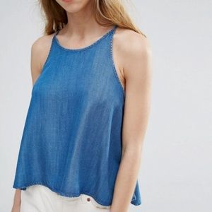 NATIVE YOUTH Tops - Native Youth Chambray Swing Top