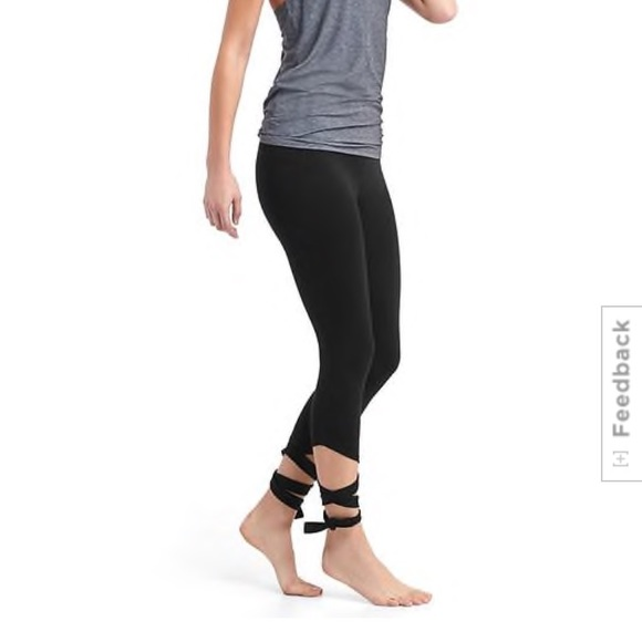 0758db0948e47 GAP Pants | Gfast High Rise Barre Strap Leggings Blackout | Poshmark