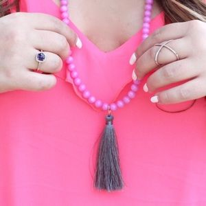 Beaded Fringe Necklace!