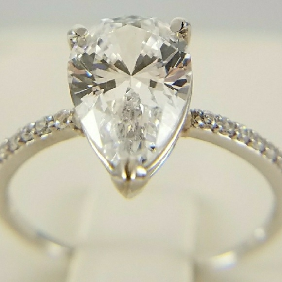64% off Jewelry Dainty 3ct 14k Solid Yellow Gold Engagement Ring from Yourd