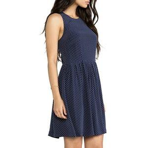Joie silk polka dot fit flare dress