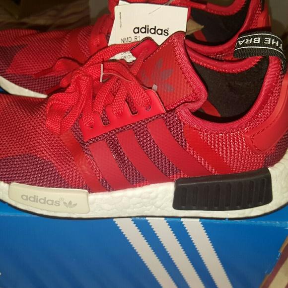 Adidas zapatos NMD geometrico rojo camo s79164 M55 w65 poshmark