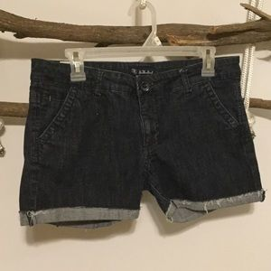 Pants - Dark Wash CutOff Shorts