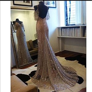 Dresses & Skirts - Custom sparkly couture gown with train