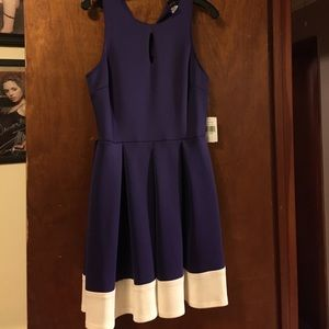Teeze Me Dresses & Skirts - Purple and white women's dress