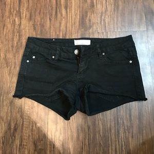 Garage Pants - Black Jean Shorts Size 3