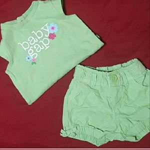BABY GAP Outfit Bubble Shorts | Girl 3-6 Mth | EUC