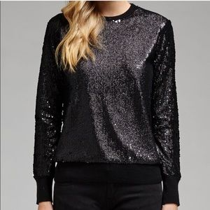 Equipment Shane Black Sequin Sweater NWOT