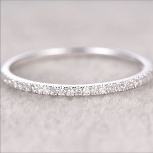 Jewelry - Real 925 sterling silver wedding band promise ring