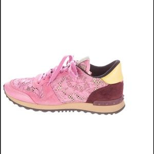 Valentino Shoes - Valentino Rock Stud Tennis Shoes Lace Rockrunner