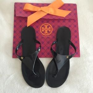 "Tory Burch Shoes - Tory Burch ""Speer"" Cabernet flat thong sandals"