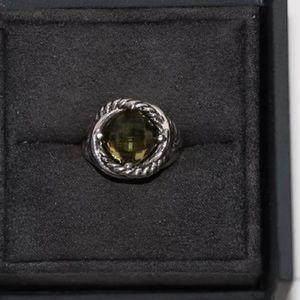 Authentic David Yurman 11mm citrine infinity ring