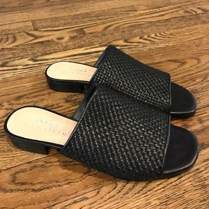 Black woven slip ons NWT size 6