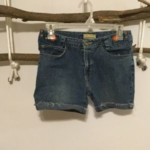 Pants - CutOff, Cuffed, Denim Jean Shorts