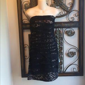 NWT Strapless cheetah print dress