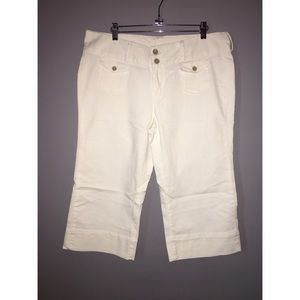 Lucky Brand White Denim Capri's SZ 14