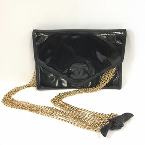 CHANEL Handbags - Chanel Vintage Patent Envelope Crossbody