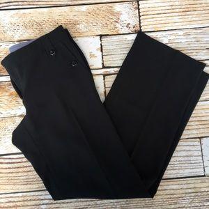 Armani Collezioni black wide leg dress pants