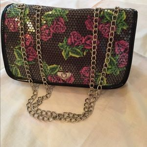 Sequined Betsey Johnson NWT purse