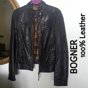 Bogner Jackets & Blazers - Bogner Quilted Moto Leather Jacket