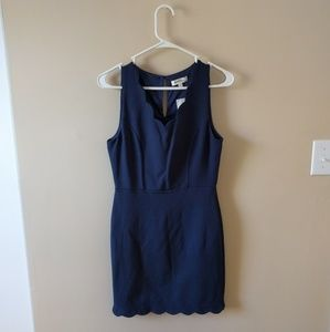 Monteau Dresses & Skirts - NWT Blue Scalloped Dress