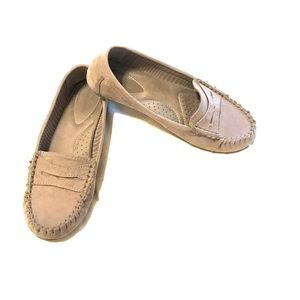 Taupe Payless loafers